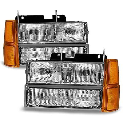 94-98 GMT400/480 Chevy GMC C/K Series Pickup Truck Suburban Blazer Tahoe Headlight + Bumper + Corner light