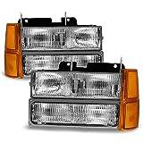 1998 silverado headlights - For 94-98 GMT400/480 Chevy GMC C/K Series Pickup Truck Suburban Blazer Tahoe Headlight + Bumper + Corner light