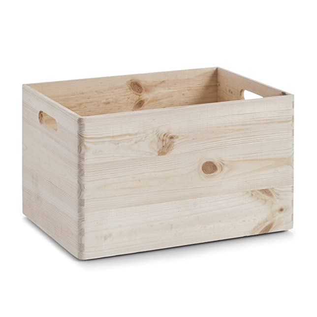 128 opinioni per Zeller 13143 Cesta portaoggetti in legno di conifera, 39 x 29.5 x 23.5 cm