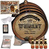 Personalized Whiskey Making Kit (103) - Create Your Own Cinnamon Whiskey - The Outlaw Kit from Skeeter's Reserve Outlaw Gear - MADE BY American Oak Barrel - (Oak, Black Hoops, 3 Liter)