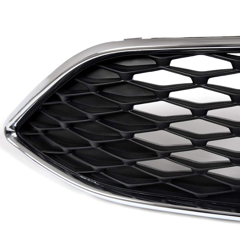 F1EZ-8200B Fit For Ford Focus 2015 2016 2017 Chrome Upper Centre Grille Front Bumper ABS Grill Honeycomb Style Replace OEM#F1EZ-8200A