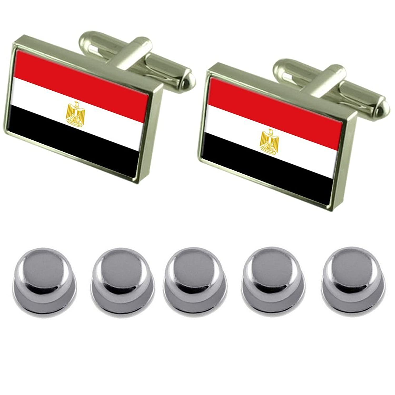 Shirt Dress Studs Egypt Flag Cufflinks