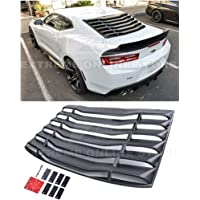 Etbotu 2005-2014 Ford Mustang 1//4 Quarter Side Window Louvers Scoop Cover Vent