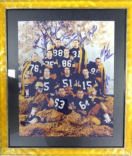 Green Bay Packers Signed Framed 1962 Haystack 16x20 Photo With 11 ...