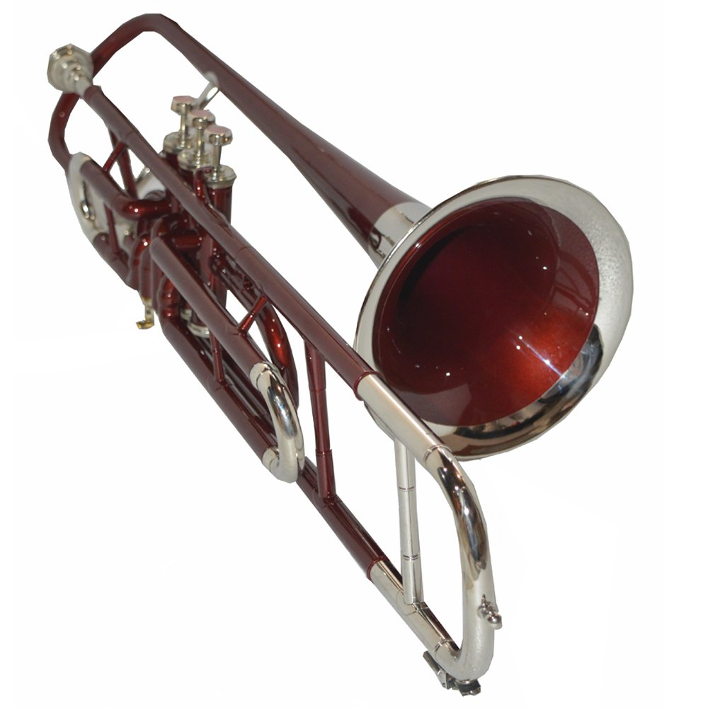 NASIR ALI TROMBONE Bb PITCH FOR SALE RED BRASS LACQUER WITH HARD CASE AND MP