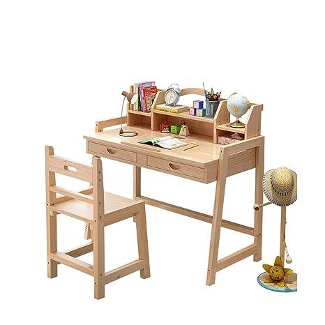 W.W Mesa y sillas de Madera para niños, Escritorio para niños ...