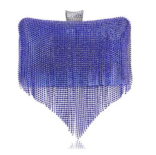 Bolso para al YHB423 plata Azul mujer 7 BESTWALED hombro Plateado d5tnwq