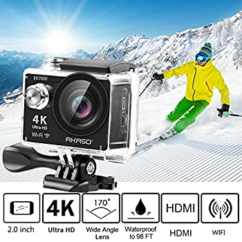 Akaso Ek7000 4k Wifi Sports Action Camera Ultra Hd Waterproof Dv Camcorder 12mp 170 Degree Wide Angle 5