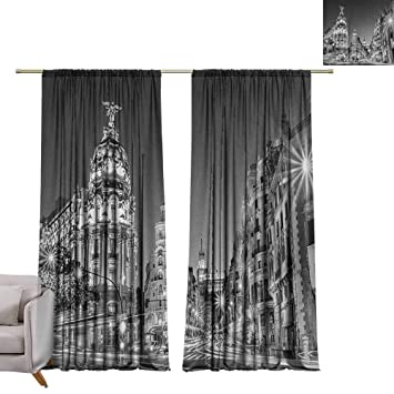 Amazon.com: Pocket Thermal Insulated Tie Up Curtains Black ...