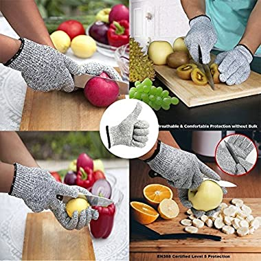 Venja New Kitchen Gloves Cooking Cut Resistant Gloves with Level 5 Protection Kitchen Glove Cutting Stand, Food Contact Safe Work Gloves 10