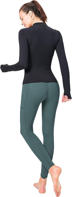 Bonim High Waist Yoga Pants with 2 Phone Pockets Tummy Control Workout Running Leggings for Women S-XXL