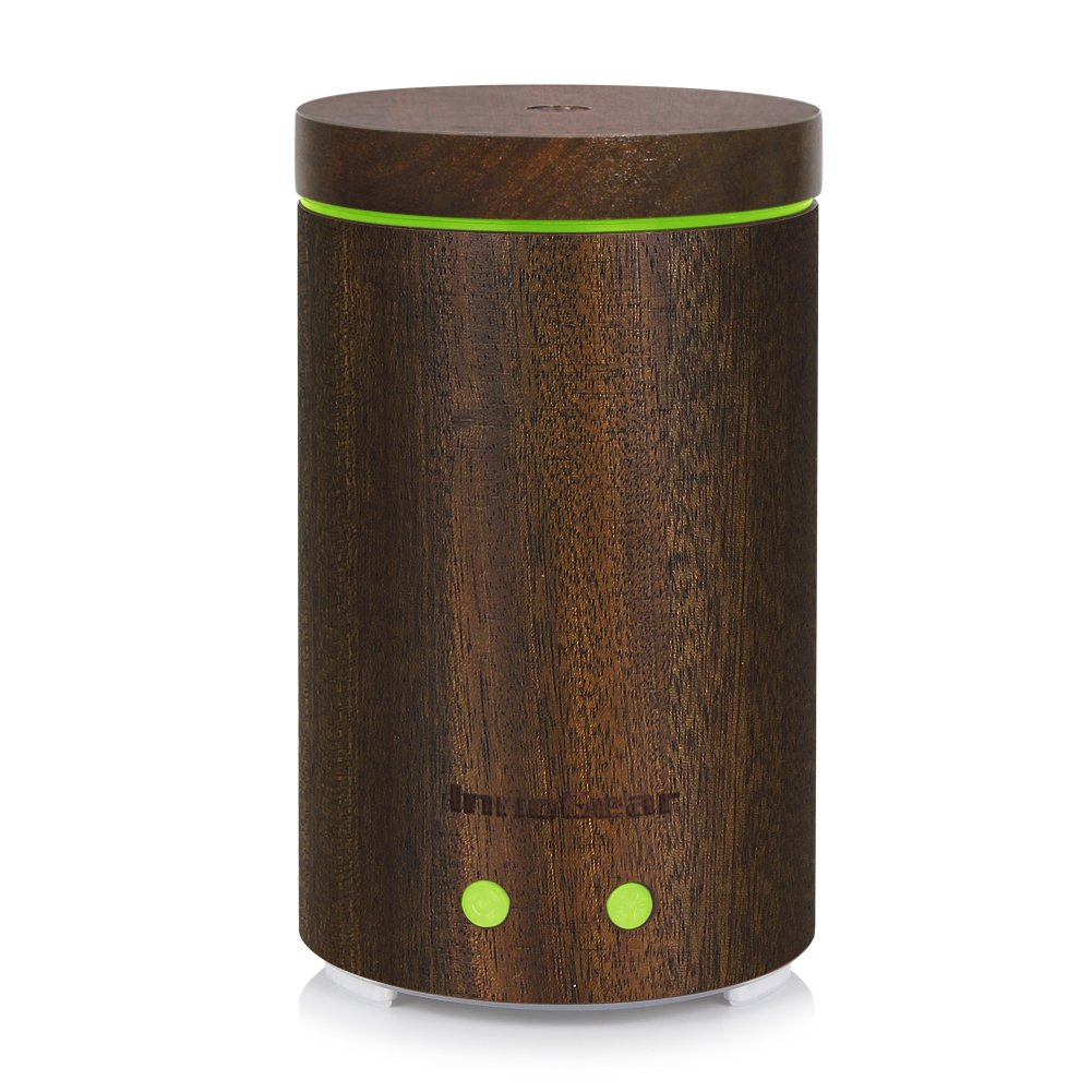 InnoGear Real Wood Essential Oil Diffuser Ultrasonic Aromatherapy Diffusers with 7 LED Colorful Lights and Waterless Auto Shut-off, 160ml