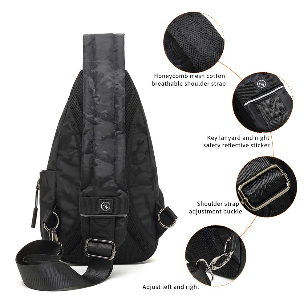 Anti-theft Backpack Shoulder Chest Bag Men and Women Backpack Mountaineering Fitness Backpack Shoulder Messenger Bag