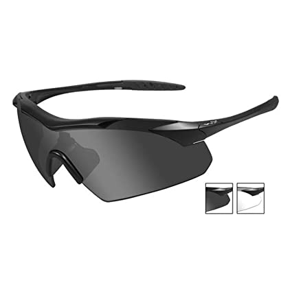60831a6765 Wiley X Saber Advanced Grey  Clear Lens Matte Black Frame 307 Shooting  Glasses