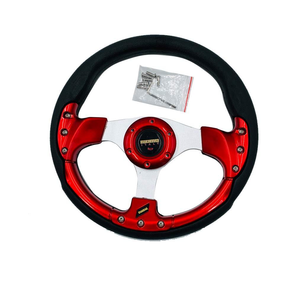 Professional Car modification 320mm 13 Red Universal Auto Racing Car interior Steering Wheel /& Horn Button Leather PVC Aluminium Alloy Wear Resistant Antiskid Unique.