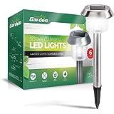 Signature Garden 6 Pack Solar Garden Lights - Super-Bright 15 Lumens ABS Plastic; Makes Garden Pathways & Flower Beds…