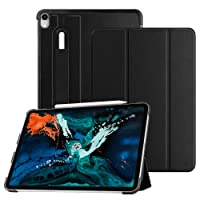 """Fintie SlimShell Case for iPad Pro 12.9"""" 3rd Gen 2018 [Supports Apple Pencil 2nd Gen Charging Mode] - Lightweight Stand Cover with [Secure Pencil Holder] Auto Sleep/Wake, Black"""