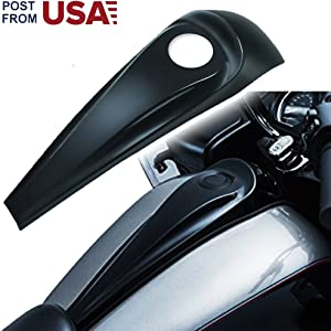 Fuel Tank Gas Caps Cover, Lock Cover Black Gloss Signature Jim Nasi Decorative Dash for 2008-2017 Harley Street/Road Glide for Harley Accessories - Fulfillment by Amazon -