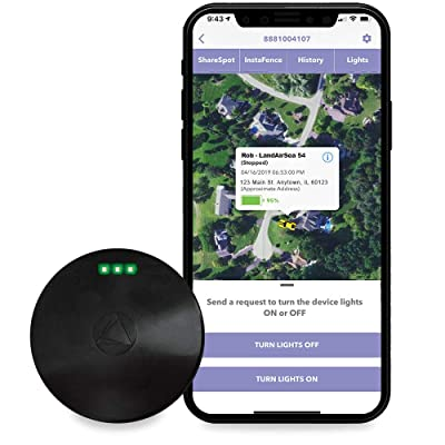 LandAirSea 54 GPS Tracker - Manufactured in the USA, 4G LTE Waterproof Real-Time with Built-In Magnet Mount. Compatible with MAC, PC, iPhone, Android Devices, for Vehicles and Asset Tracking