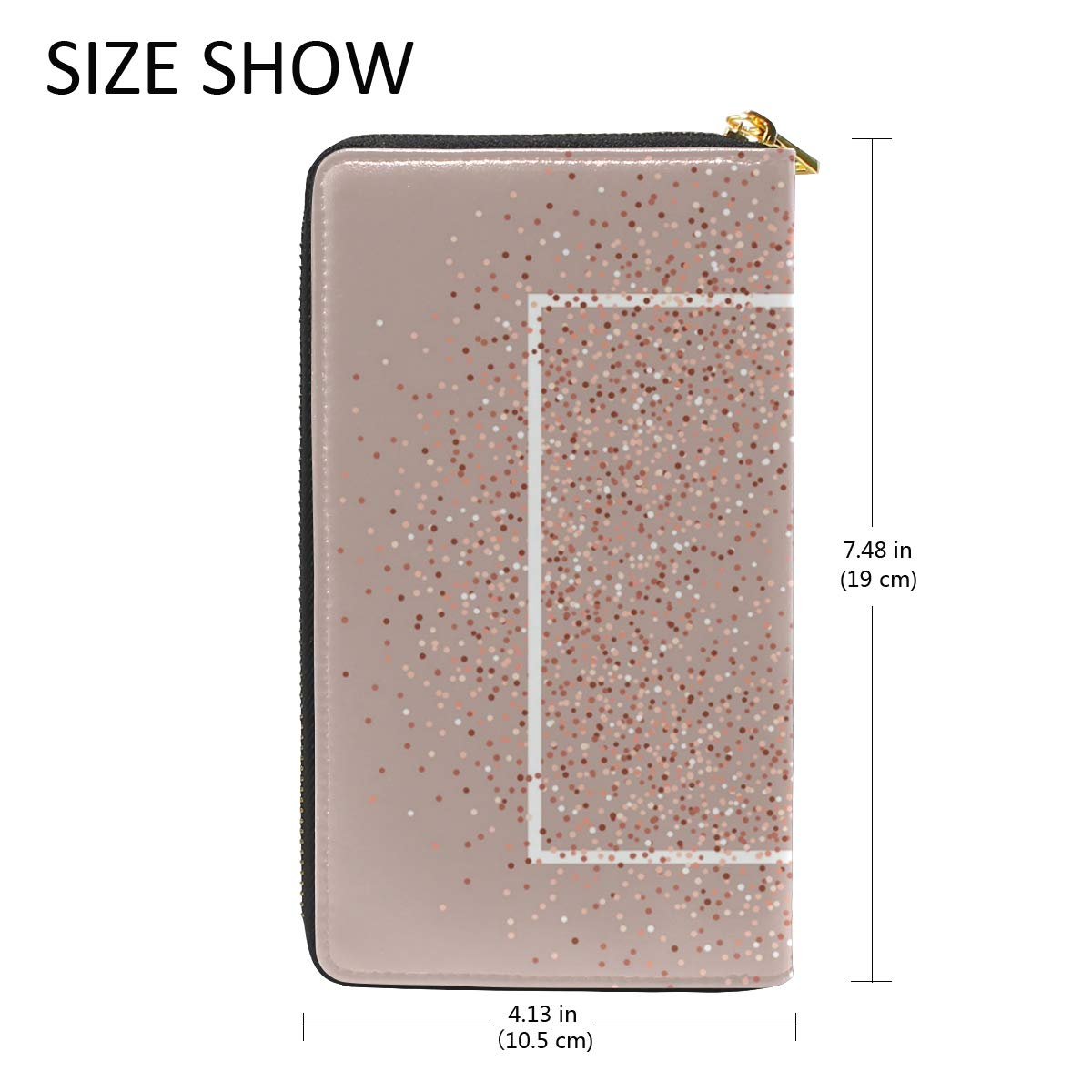 dc514e3d95bb Luxe Rose Gold Square Women Wallet Card Case Leather Clutch Wallet ...