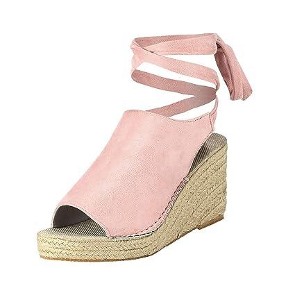cf72b9956 Amazon.com: Clearance! Hot Sale! ❤ Women Summer Fashion Ankle Strap ...
