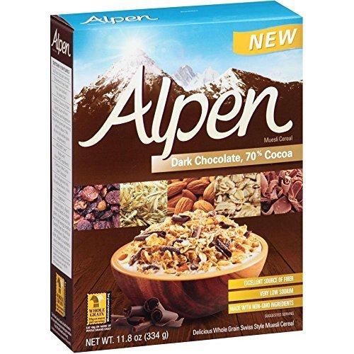 Alpen Dark Chocolate 70 Percent Cocoa Muesli Cereal, 11.8 Ounce -- 12 per case. by Alpen