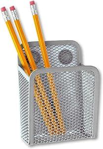 Jennakate- Magnetic Pen Holder - Liquid Chalk Holder- Family Command Center - Magnetic Message Board - Grey