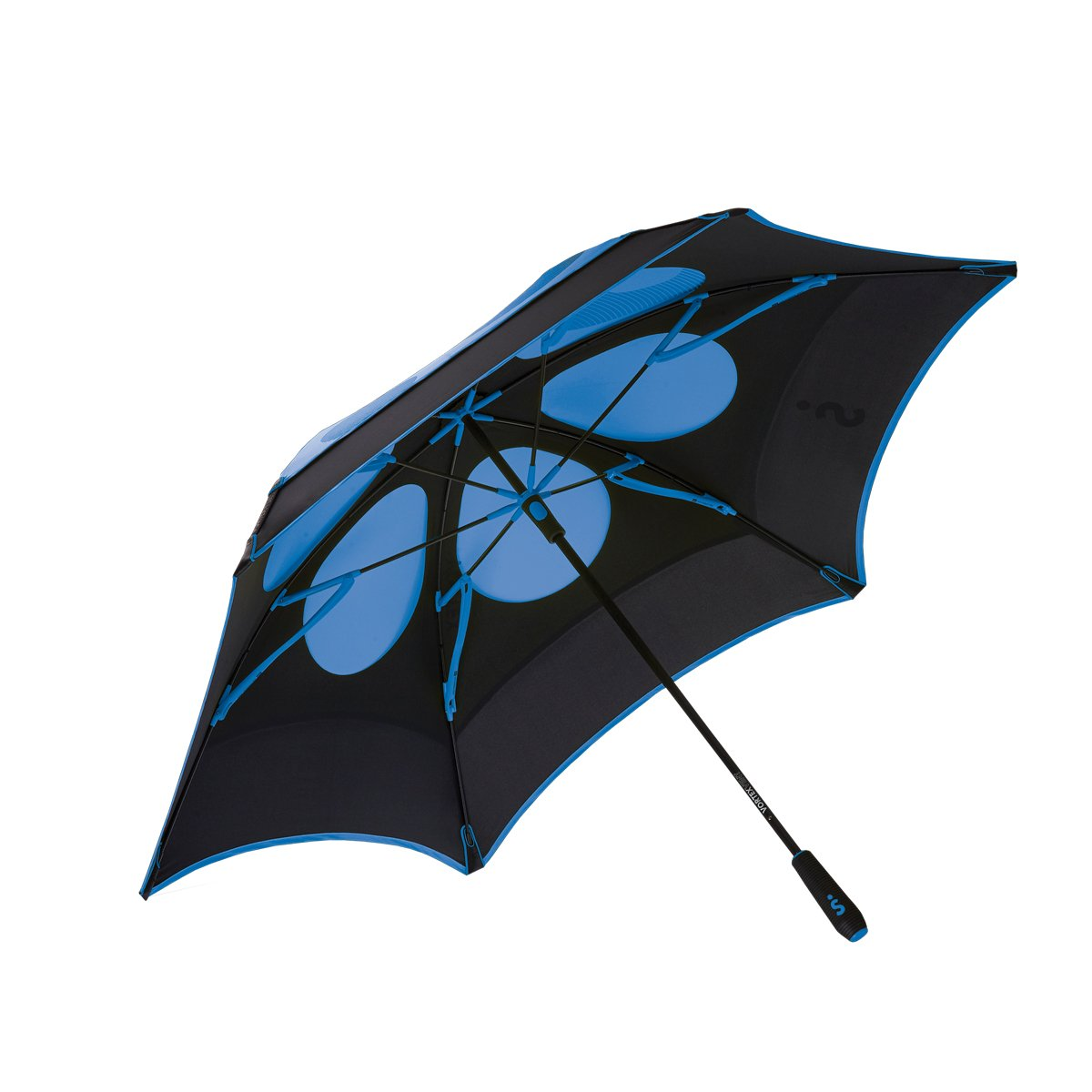 ShedRain® Vortex Vent Pro Golf Umbrella: Black and Sapphire