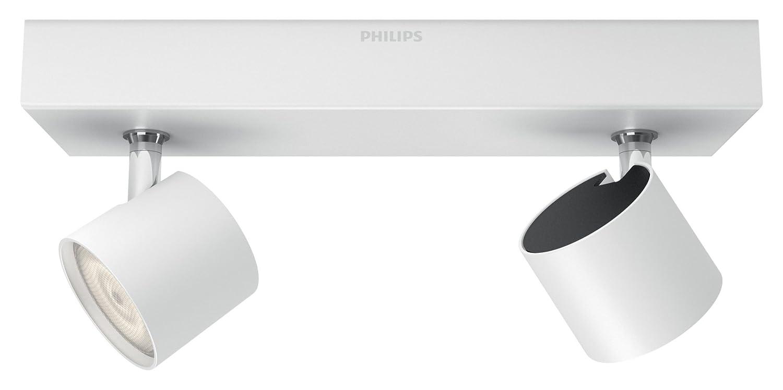 Philips myLiving Star-Barra de Dos focos de Techo, LED Integrado, Consume 4.5 W, luz Blanca cálida, Regulable, 2: Amazon.es: Iluminación