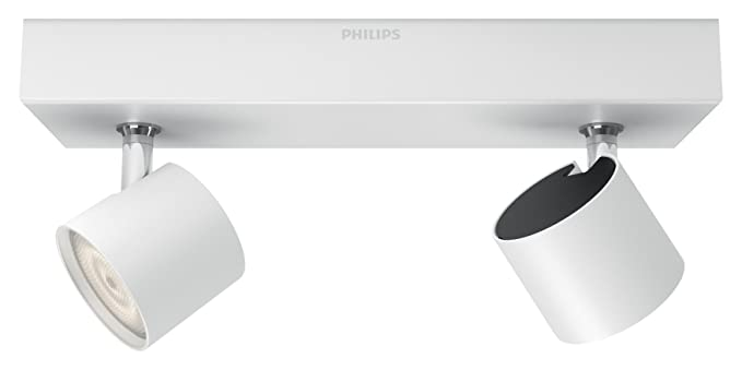 Lighting Philips cálidaregulable2 focos Wluz Star techoLED Philips integradoconsume myLiving 5 blanca 4 dos de Barra tdCQrhs