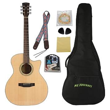 "vivictory gam-4150 C sólido abeto superior guitarra acústica 41 ""Cutaway Guitarra con"