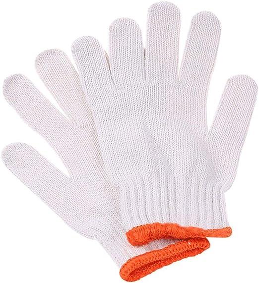Bocotoer - Guantes de Trabajo (algodón Grueso, Resistentes al ...