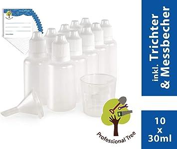 ProfessionalTree® Botellas para líquido con Sistema de Goteo 10x30 ...