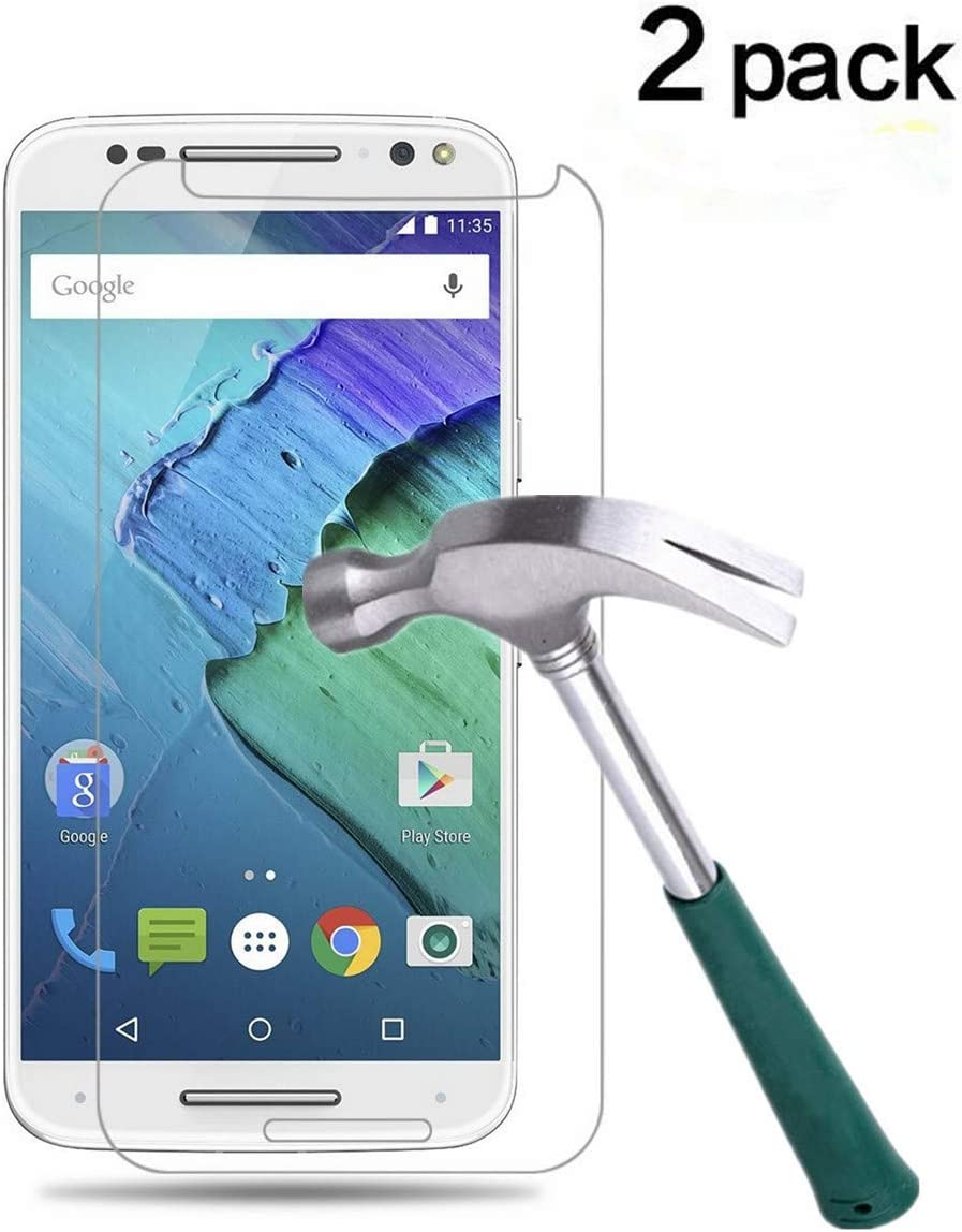 TANTEK Moto X Pure Edition Screen Protector, [Bubble-Free][Anti-Scratch][Anti-Fingerprint] Tempered Glass Screen Protector for Motorola Moto X Pure Edition (2015) / X Style,-[2Pack]
