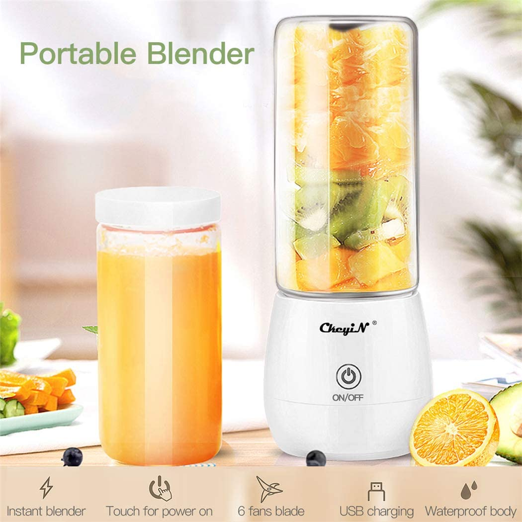 Portable Blender,inkint Personal Size Blender Juicer Cup for Shakes and Smoothies Fruit Mixer with USB Rechargeable 6 Stainless Steel Blades BPA Free 450ml