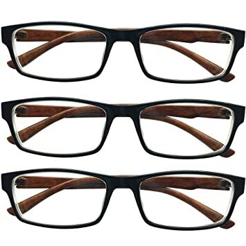 8a7e636a4a Southern Seas 3x Nearsighted Myopia Everyday Use Mens Womens Fashion  Distance Glasses -1.0 Lenses Brown