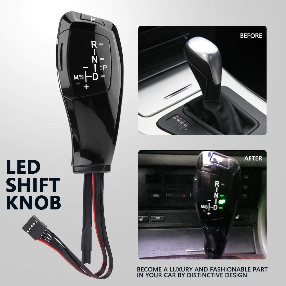 Silver LHD Automatischer LED Schaltknauf f/ür E90 E91 E93 E81 E82 E84 E87 E88 E89 Silber LED Schaltknauf