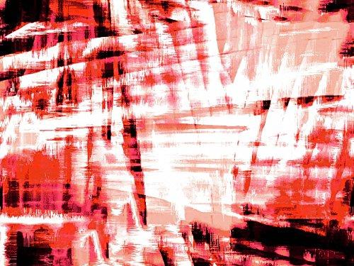 Dress Print Sateen - John Kaldor Abstract Print Cotton Sateen Dress Fabric Red - per metre