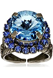 "Sorrelli ""Electric Blue"" Round Cut Cocktail Ring, Size 7-9"