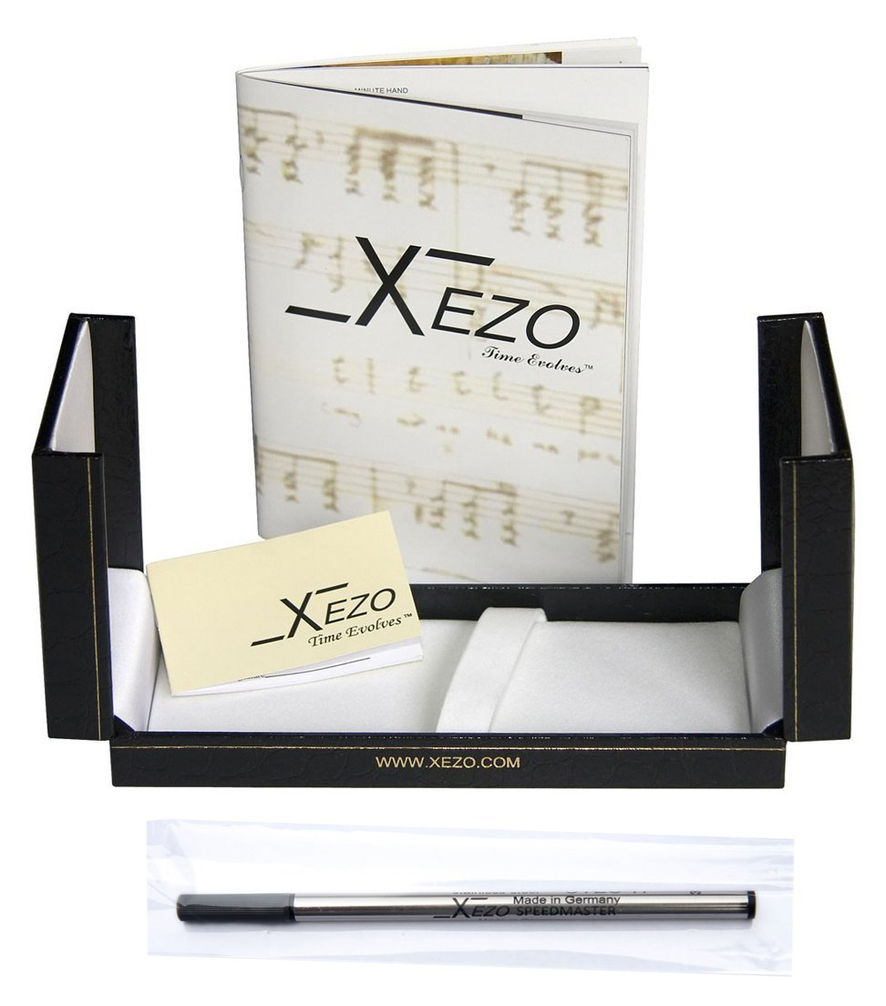 Xezo Diamond-Cut 18-Karat Gold Layered Weighty Fine Rollerball Pen. Screw-on cap (Tribune Gold RG) by Xezo (Image #8)