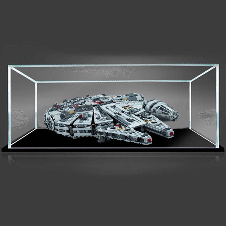 Solo Vitrina iCUANUTY Vitrina de Acr/ílico para Lego 75105 Millennium Falcon - 50 x 35 x 15 cm Display Case Vitrinas para Colecciones Modelismo