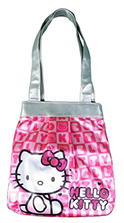 ba336fa31e Hello Kitty Pink Faux Sequins Die Cut White Head Shoulder Bag ...