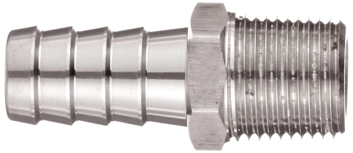3//8 NPT Male x 1//2 Hose ID Barbed Dixon RN43 Stainless Steel 316 Hose Fitting Insert