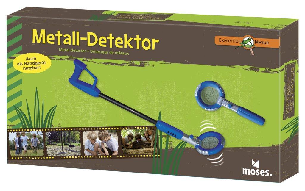moses Expedition Natur 9625 - Detector de metales (31 a 74 cm, pilas incluidas) [importado de Alemania]: Amazon.es: Juguetes y juegos