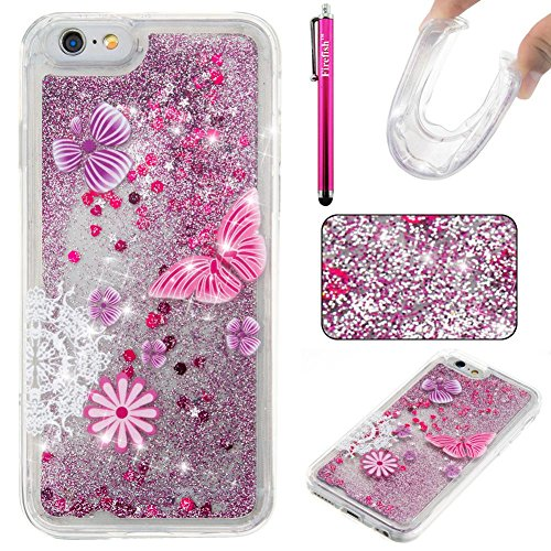 """Price comparison product image iPhone 6 Plus / 6S Plus Case,  Firefish Luxury Liquid Thin [SOFT-FLEX] Gel TPU Protective Skin Scratch-Proof Protective Case for Apple iPhone 6 Plus / 6S Plus 5.5"""" -Butterfly"""