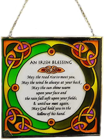 Stained Glass Window Hang Ireland Round 16cm