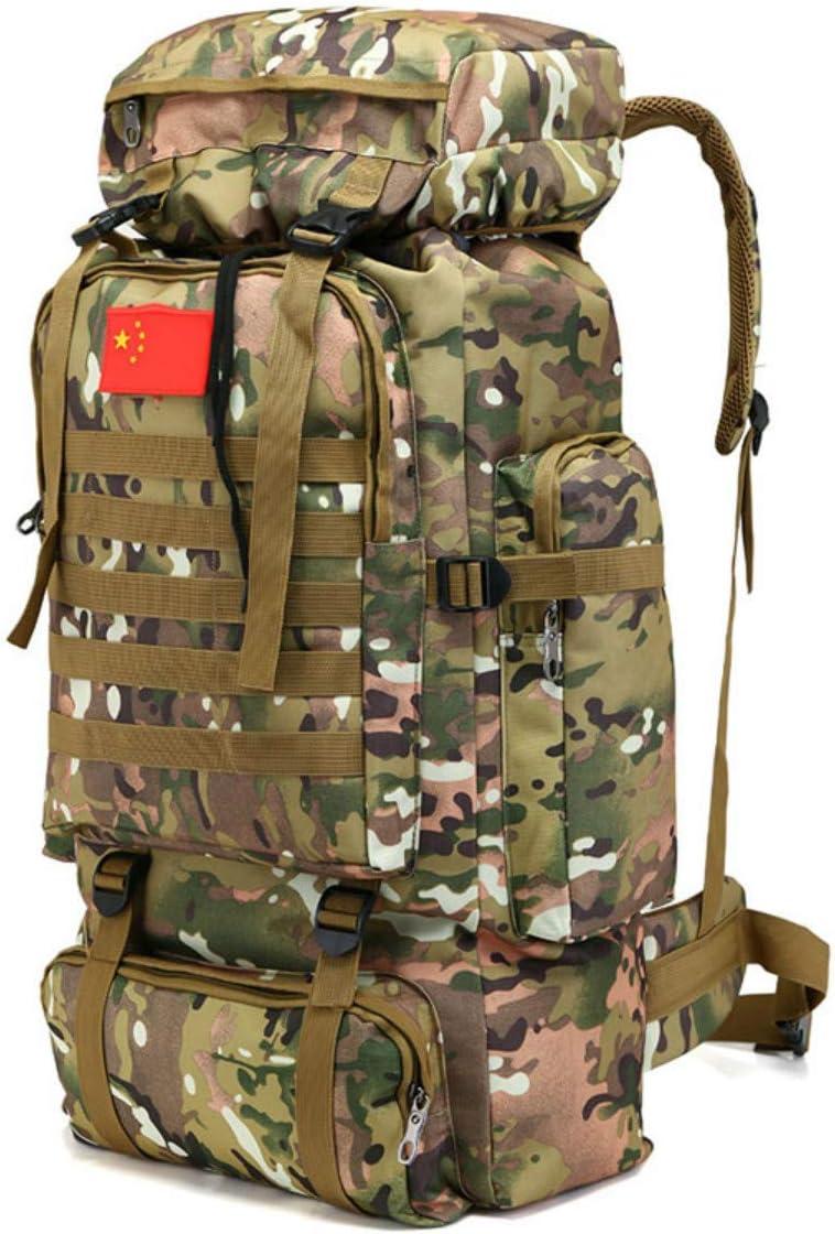 70L Molle Camo Mochila táctica Militar ejército Impermeable Camping Senderismo Mochila de Viaje al Aire Libre Deportes Escalada Bolsa: Amazon.es: Deportes y aire libre
