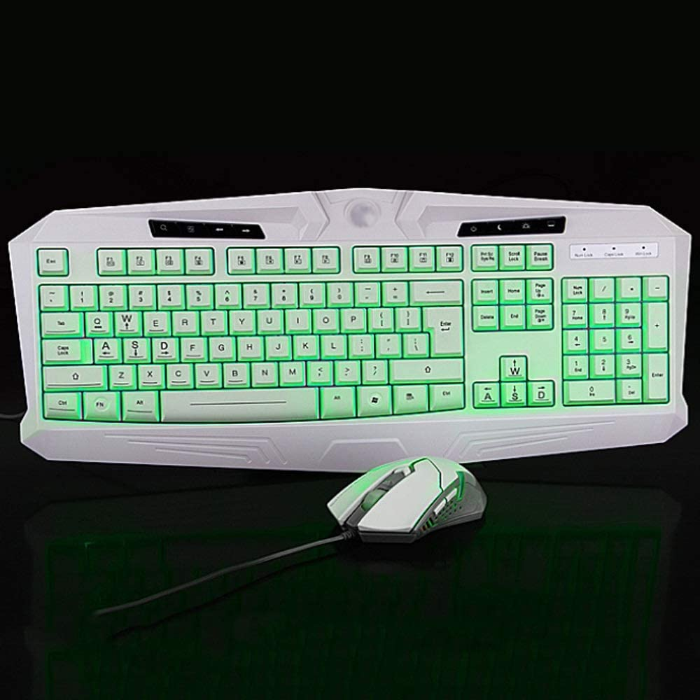 USB Wired Gaming Keyboard Mouse Set Gaming Keyboard and Mouse Combo Backlit Gaming Keyboard