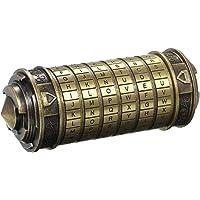 yorten Code Toys metaal Cryptex sloten huwelijksgeschenken wachtwoord aanwezig zinklegering en antiek kopje ca. 136 * 52…