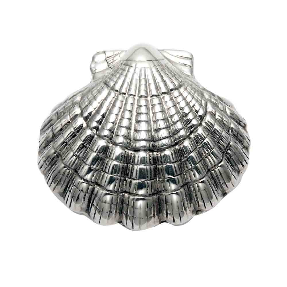 Sterling Silver Scallop Shell Pill Box